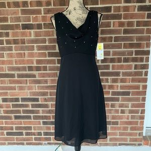 NWT Arianna black embellished formal dress